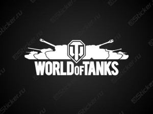 Наклейка-логотип Word of Tanks