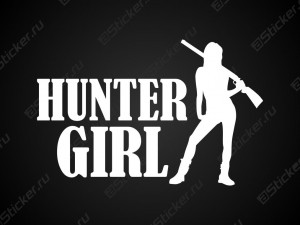 Наклейка - Hunter Girl