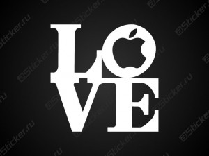 Наклейка - Love Apple