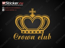 Наклейка - Crown Club